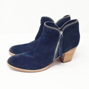 Dolce Vita Suede Leather Zip Ankle Detail Booties